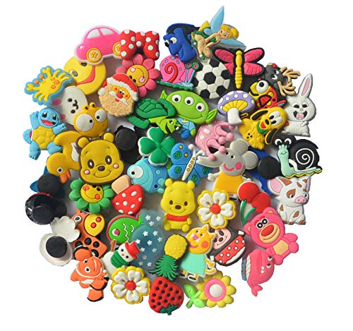 3ea365f124da 50 Pcs Different Shoe Charms for Croc Shoes   Bracelet Wristband Kids Party  Birthday Gifts