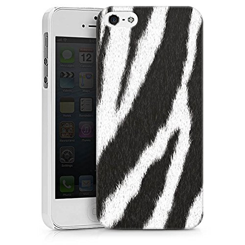 Apple iPhone 7 Plus Tasche Hülle Flip Case Zebra Fell Monochrom Hard Case weiß