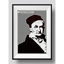 Carl Friedrich Gauss Stampa artistica - The Icons of Mathematics Series - #3 of 25 - Regalo di matematica Poster Fotografico - Dimensioni: 60 x 40 cm