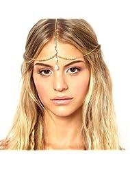 Malloom® Chaîne Multicouche Bijoux Bandeau Tête Shell Cheveux Bande Bandeau Or