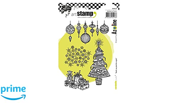 Carabelle Studio SA60289 Cling Art for Paper Craft Stamping Projects Cardmaking and Scrapbooks Moroccan Tiles Multi-Colored