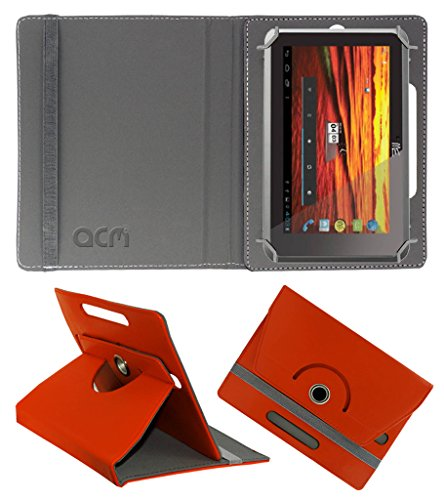 Acm Rotating 360° Leather Flip Case for Hcl Me Y3 Cover Stand Orange  available at amazon for Rs.149