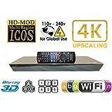 PANASONIC 2K/4K Lecteur Blu Ray BDT330 2D/3D Wi-Fi Blu-Ray Disc Player MultiZone Region Code Free DVD 012345678 PAL/NTSC Blu Ray Zone A/B/C. 100~240V 50/60Hz comes with EU & UK Mains plugs (2m Gold Plated 1.4 HDMi Lead)