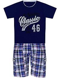 2 pièces Shorts et T-shirt pour Garçons, Pour l'été, haut à manches courtes