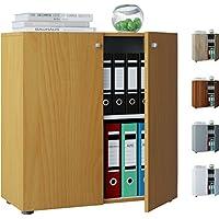 VCM VANDOL Mini Mobile di ufficio raccoglitore, legno, Grigio, 70x 70x 39cm