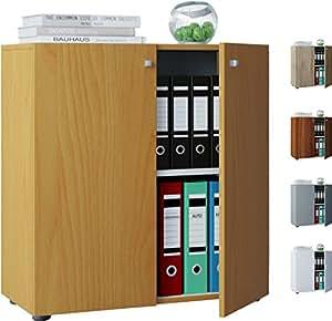 "VCM Büroschrank Aktenschrank Bücherregal Universal Ordner Schrank Regal Weiß 70 x 70 x 39 cm ""Vandol Mini"""