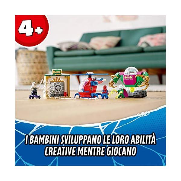 LEGO Super Heroes La Minaccia di Mysterio Marvel Spider-Man Playset d'Azione con Mech, Elicottero e la Minifigure di… 4 spesavip