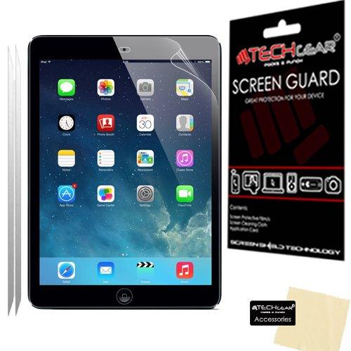 [Pack de 2] TECHGEAR® Apple iPad Air & Air 2 (iPad 5 & 6) Film de Protection Ultra Clair pour Écran LCD avec Chiffon de Nettoyage & Carte d'Application