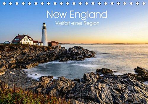 New England - Vielfalt einer Region (Tischkalender 2019 DIN A5 quer): Eine Reise durch Neuengland (Monatskalender, 14 Seiten ) (CALVENDO Orte) -