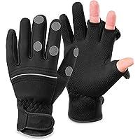 normani Wasser- und Winddichte Angel Handschuhe Winterhandschuhe Fishingsports Anglerhandschuhe 2,5 mm Titanium-Neopren