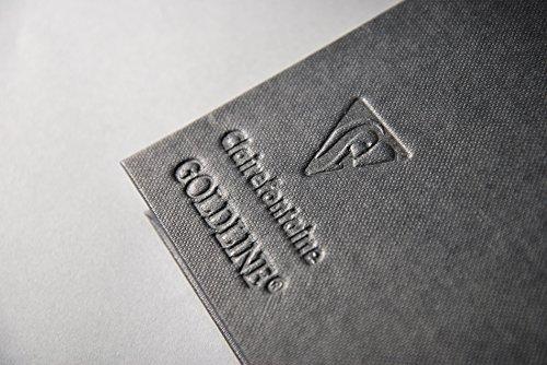 Clairefontaine 134258C Skizzenbuch Goldline mit Doppelspirale, DIN A6, 140g, 64 Blatt Elfenbein