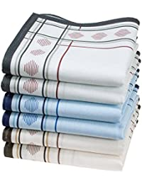 "6 pañuelos para hombre - 100% algodón - Modelo ""Huanca"""