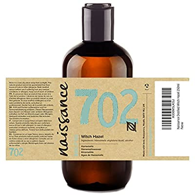 Naissance Distilled Witch Hazel (no. 702) 250ml - Pure, Natural, Cruelty Free, Vegan - Cleansing & Toning - Ideal for Aromatherapy, Skincare and DIY Beauty Recipes