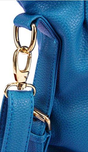 Frauen Handtaschen Leder Handtaschen Schultertasche Lichi Korn PU Leder Tasche Black