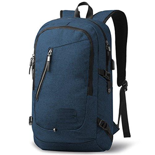 BULAGE Taschen Rucksäcke Schultern Business Computer Freizeit Sport Reisen Schüler Schultaschen Männer Mode Outdoor Blue