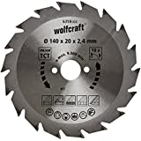 Wolfcraft 6359000 Lame scie circulaire CT 18Dts Diamètre 140 x 20 mm