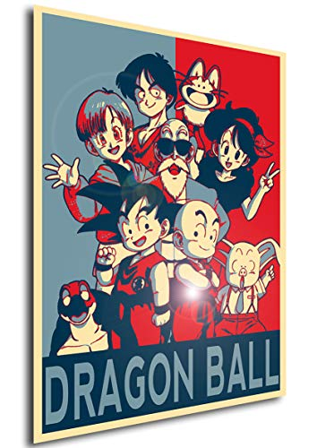 Instabuy Poster Dragon Ball Propaganda Personajes - A3 (42x30 cm)