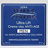 RETINOL COMPLEX CREMA VISO ANTI-AGE ANTIETA' UOMO MEN ACIDO JALURONICO E COLLAGENE 50ML