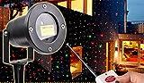 HAPPYMOOD Garten Projektion Licht Garten Magie Sternenhimmel Bunt Sterne Bilder Wasserdicht Fern Steuern LED Weihnachten Urlaub Anzeigen