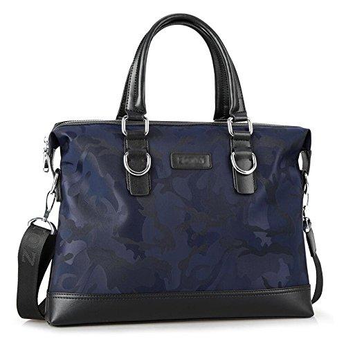 Herren Handtaschen Oxford Tuch Schulter Messenger Bag Business Aktentasche Casual Rucksack Handtasche Männer Tasche,CamouflageBlue-29*7*38cm (Tuch Messenger Bag)