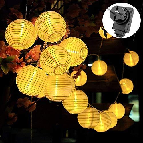 Uping Lichterkette 20er Led Lampions Laterne Stromversorgung 5M warmweiß