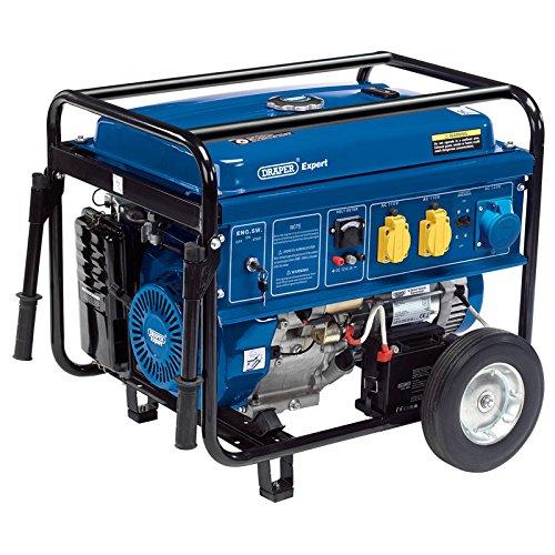 Draper 16143 Benzin Generator mit Rädern, 11 W, 6.5 V, Mehrfarbig (Rad Generator Für Den)