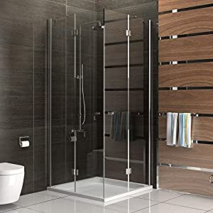 100 x 100 partition cabine de douche avec entr e d 39 angle. Black Bedroom Furniture Sets. Home Design Ideas