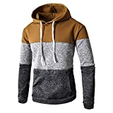 BaZhaHei Herren Pullover Hoodie Strickpullover Longsleeve Sweater Sweatshirt Herbst-Winter-beiläufiges langes Hülsen-dünnes Pocket Fit Hoodies Basic Kapuzenpullover