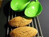 Hanseatic Consumables Silikon Brotbackform | Salatschale | Silikonschale | Spargel dünsten | Dampfgaren | 24x20x9cm | BPA freies Lebensmittelsilikon | Antihaftbeschichtet | backen wiegen kneten geschmacksneutral