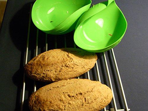 Silikon Brotbackform Salatschale, Küche Zusammenklappbar Brotbackformen Brotbackschale für Salat, Fisch, Mehl, Kuchen (24,5x22x9 cm)