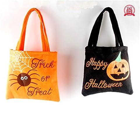 AAAHOMEEU 5Pcs Halloween Halloween cadeaux pour enfants sac à main non-tissé Sac de bonbons Sac de luxe pour