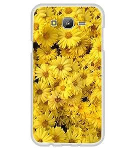 FUSON Designer Back Case Cover for Samsung Galaxy J7 J700F (2015) :: Samsung Galaxy J7 Duos (Old Model) :: Samsung Galaxy J7 J700M J700H (Yellow Colour Flowers Design Wonderful flower Design Wallpaper Beautiful yellow Colour Design Sun Flowers Design)