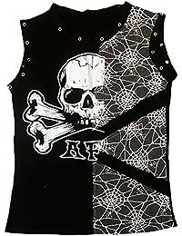 d/'ROCKABILLY PUNK ROCK BABY Totenkopf Hasen Sweet Cute Skull Streifen T-Shirt XL