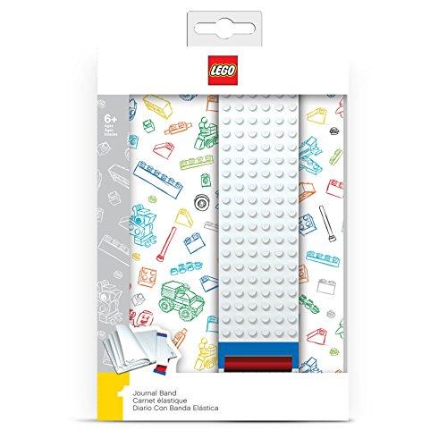 Lego, diario con mappette trasparenti, colore bianco