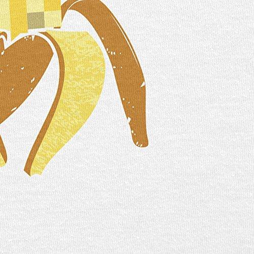 NERDO - Pixeled Banana - Damen T-Shirt Weiß