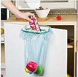 Plastic Garbage Bag Holder / Dustbin (Green) for Kitchen / Office / Clincs / Schools