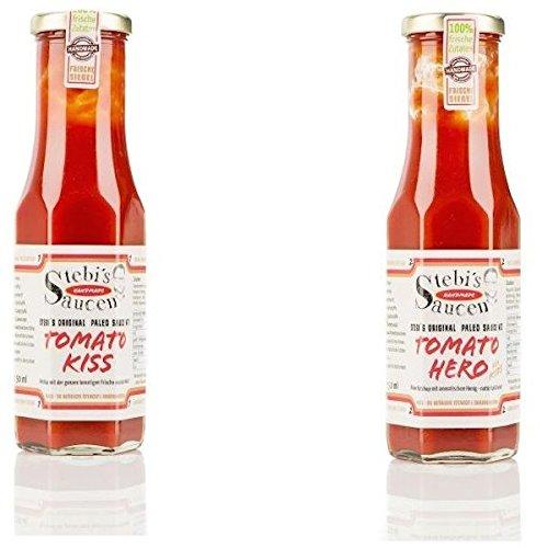 Stebi`s Paleo-Ketchup Duo (Ketchup No.1 & Kinder-Ketchup No.2 - ohne Zuckerzusatz)