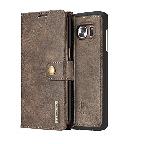 COCK-DG-MING-Samsung-Galaxy-S7-edge-Case-Vintage-Genuine-Leather-Wallet-Case-Flip-cover-Magnetic-Detachable-Leather-Back-Cover-3-Card-Slots-1-Cash-Slot-Removable-Cover-Case-with-Card-Holder-for-Samsun