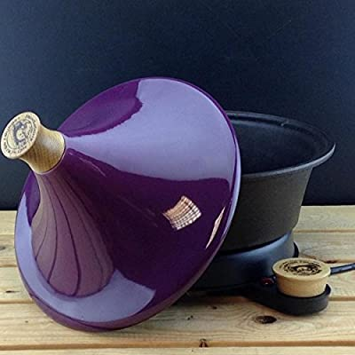Netherton Foundry Cast Iron Electric Tagine with stylish purple ceramic lid (2016 model) from Netherton Foundry