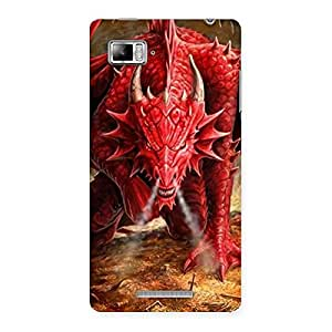 Impressive Red Fantastic Dragon Back Case Cover for Lenovo Vibe Z K910