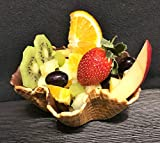 Vegan Dessert Ciotola Cialda Gelato | Conchiglia di Wafer | 40xØ120mm | 24 pezzi | Wafer di Gelato croccanti nelle migliori gelateria di qualità