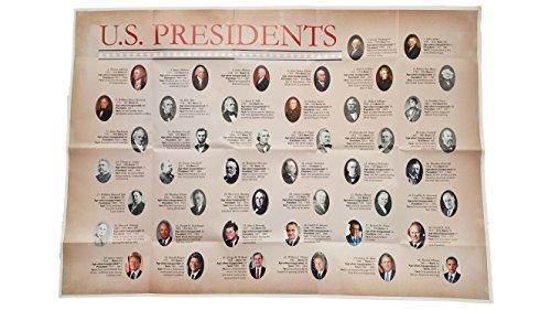 Superior Mapping Company US Präsidenten Poster Größe Wall Karte 101,6x 71,1cm Single Poster -