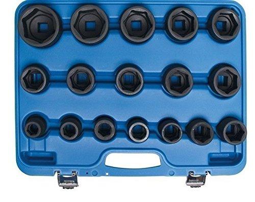 Bgs Force Clé à douille – inserts, 19–55 mm, 20 (3/4) 17 pièces, BGS de 5242