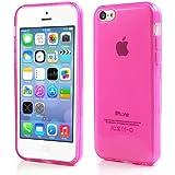 iProtect Schutzhülle iPhone 5c Hülle soft matt transparent pink