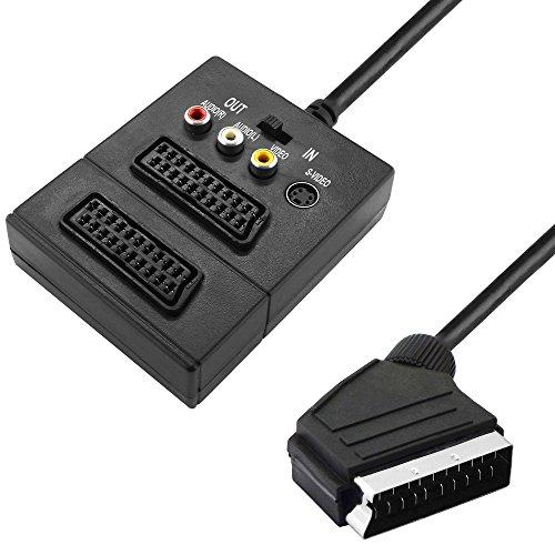 50cm Cinch Kabel Adapter Chinch Stecker auf Mono Klinke Kupplung Buchse schwarz