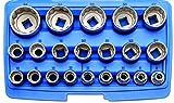 BGS 2267 , Steckschlüssel-Einsatz-Satz Zwölfkant , 21-tlg. , 12,5 mm (1/2') , SW 8 - 36 mm , Chrom-Vanadium-Stahl