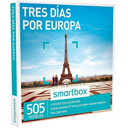 Smartbox Caja Regalo - TRES DÍAS POR EUROPA - 520 hoteles de hasta 5* en principales ciudades de España, Europa, Marruecos y Túnez