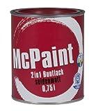 McPaint 2in1 Buntlack Grundierung und Lack in einem für Innen und Außen. PU verstärkt - speziell für Möbel und Kinderspielzeug seidenmatt Farbton: RAL 3004 Purpurrot 0,75 Liter - Bastellack- Andere Farben verfügbar