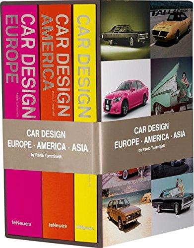 Car Design Europe, America, Asia : Myths, Brands, People : Coffret 3 volumes