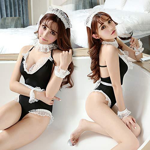 Europäische und amerikanische sexy Unterwäsche, Sexy Maid Cosplay Uniform, verführerische Maid Kleid